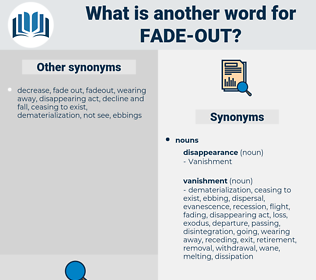 fade out, synonym fade out, another word for fade out, words like fade out, thesaurus fade out
