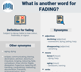 fading, synonym fading, another word for fading, words like fading, thesaurus fading