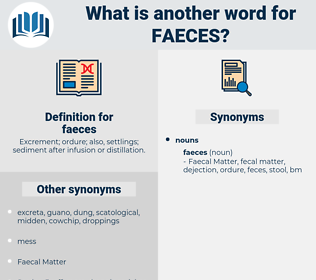 faeces, synonym faeces, another word for faeces, words like faeces, thesaurus faeces