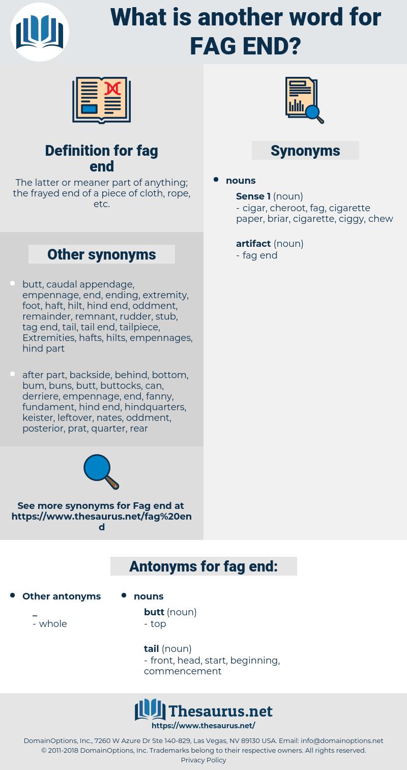 fag end, synonym fag end, another word for fag end, words like fag end, thesaurus fag end