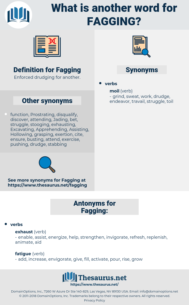 Fagging, synonym Fagging, another word for Fagging, words like Fagging, thesaurus Fagging
