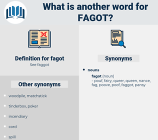 fagot, synonym fagot, another word for fagot, words like fagot, thesaurus fagot