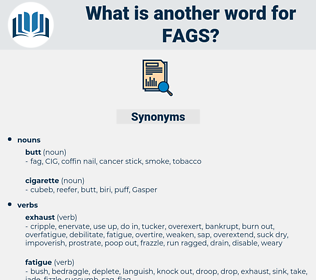FAGS, synonym FAGS, another word for FAGS, words like FAGS, thesaurus FAGS