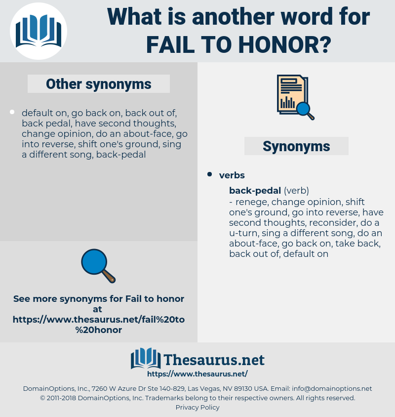 fail to honor, synonym fail to honor, another word for fail to honor, words like fail to honor, thesaurus fail to honor