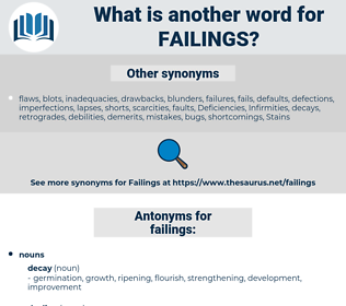 failings, synonym failings, another word for failings, words like failings, thesaurus failings