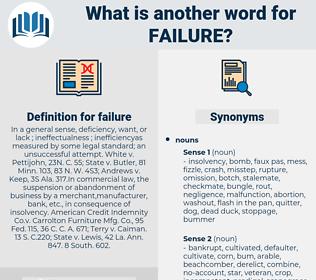 failure, synonym failure, another word for failure, words like failure, thesaurus failure