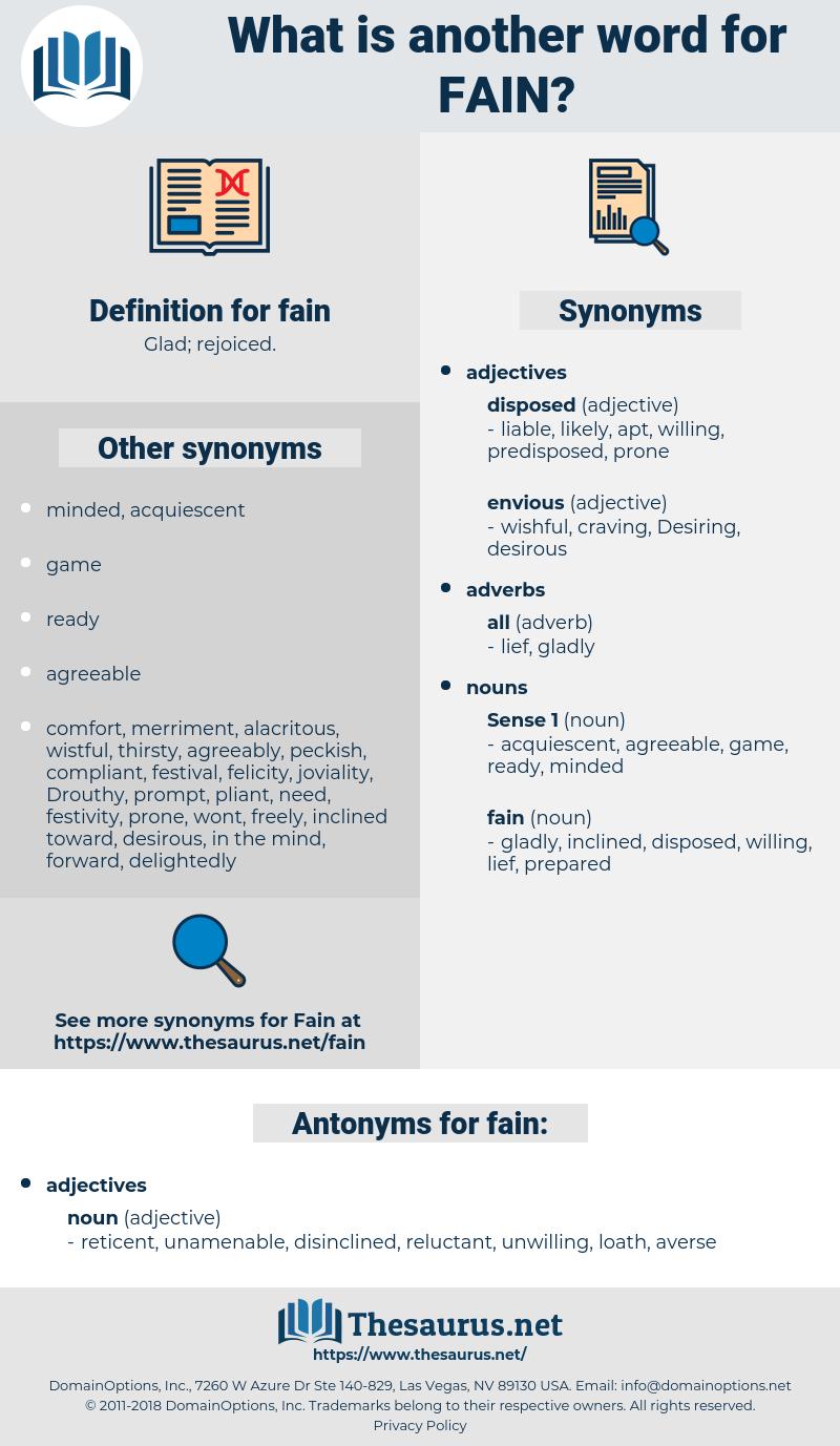 fain, synonym fain, another word for fain, words like fain, thesaurus fain