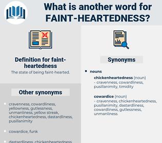 faint-heartedness, synonym faint-heartedness, another word for faint-heartedness, words like faint-heartedness, thesaurus faint-heartedness