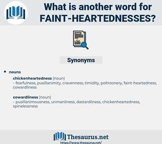faint heartednesses, synonym faint heartednesses, another word for faint heartednesses, words like faint heartednesses, thesaurus faint heartednesses