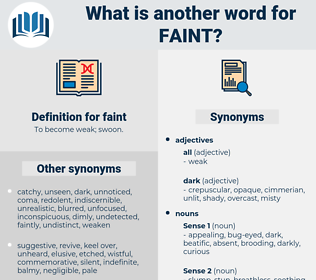 faint, synonym faint, another word for faint, words like faint, thesaurus faint