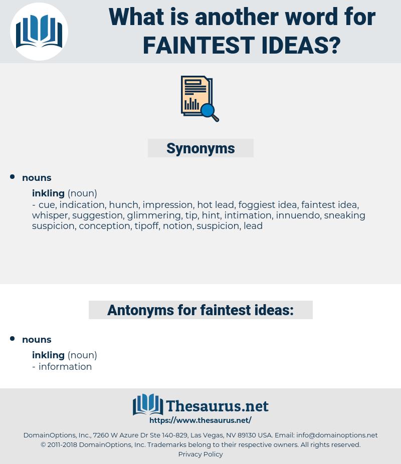 faintest ideas, synonym faintest ideas, another word for faintest ideas, words like faintest ideas, thesaurus faintest ideas