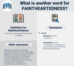 faintheartedness, synonym faintheartedness, another word for faintheartedness, words like faintheartedness, thesaurus faintheartedness