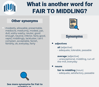 fair to middling, synonym fair to middling, another word for fair to middling, words like fair to middling, thesaurus fair to middling