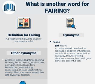 Fairing, synonym Fairing, another word for Fairing, words like Fairing, thesaurus Fairing