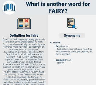 fairy, synonym fairy, another word for fairy, words like fairy, thesaurus fairy