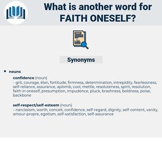 faith oneself, synonym faith oneself, another word for faith oneself, words like faith oneself, thesaurus faith oneself