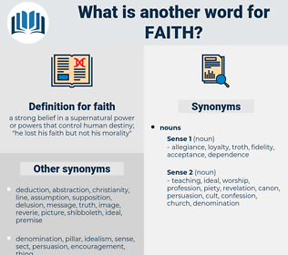 faith, synonym faith, another word for faith, words like faith, thesaurus faith