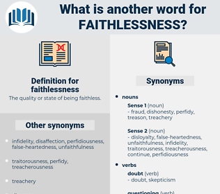 faithlessness, synonym faithlessness, another word for faithlessness, words like faithlessness, thesaurus faithlessness