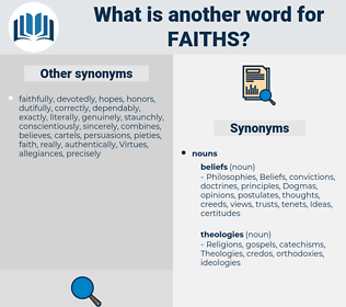 faiths, synonym faiths, another word for faiths, words like faiths, thesaurus faiths