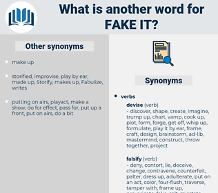 fake it, synonym fake it, another word for fake it, words like fake it, thesaurus fake it