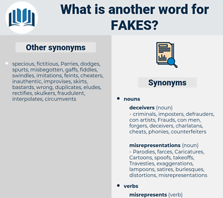 fakes, synonym fakes, another word for fakes, words like fakes, thesaurus fakes