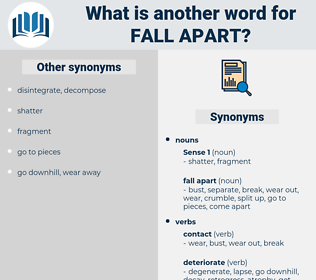 fall apart, synonym fall apart, another word for fall apart, words like fall apart, thesaurus fall apart