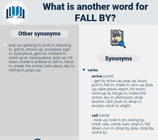 fall by, synonym fall by, another word for fall by, words like fall by, thesaurus fall by