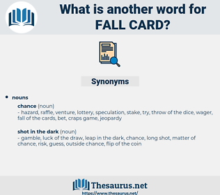 fall card, synonym fall card, another word for fall card, words like fall card, thesaurus fall card