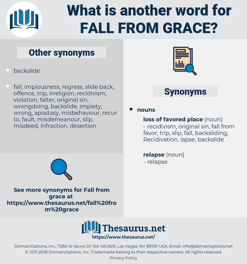 fall from grace, synonym fall from grace, another word for fall from grace, words like fall from grace, thesaurus fall from grace