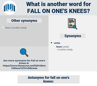 fall on one's knees, synonym fall on one's knees, another word for fall on one's knees, words like fall on one's knees, thesaurus fall on one's knees
