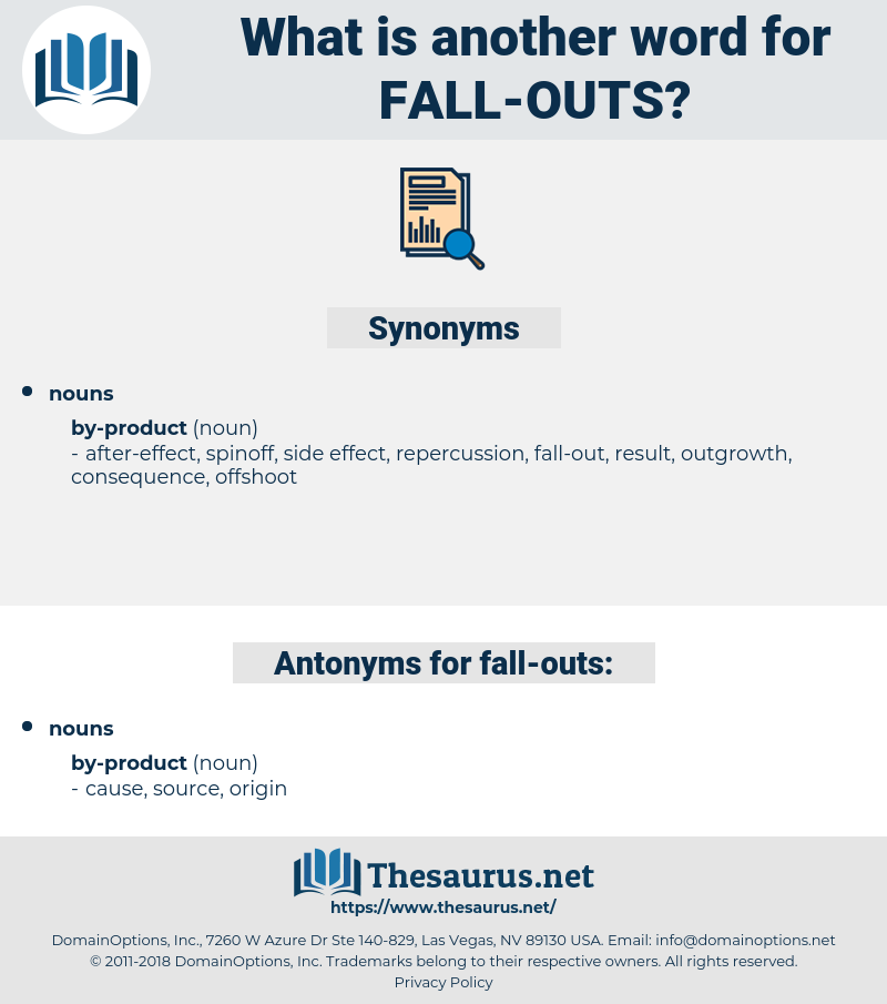 fall outs, synonym fall outs, another word for fall outs, words like fall outs, thesaurus fall outs