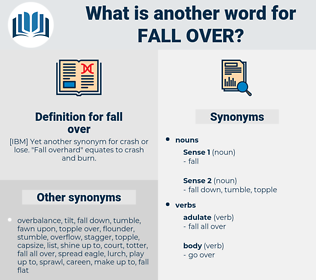 fall over, synonym fall over, another word for fall over, words like fall over, thesaurus fall over