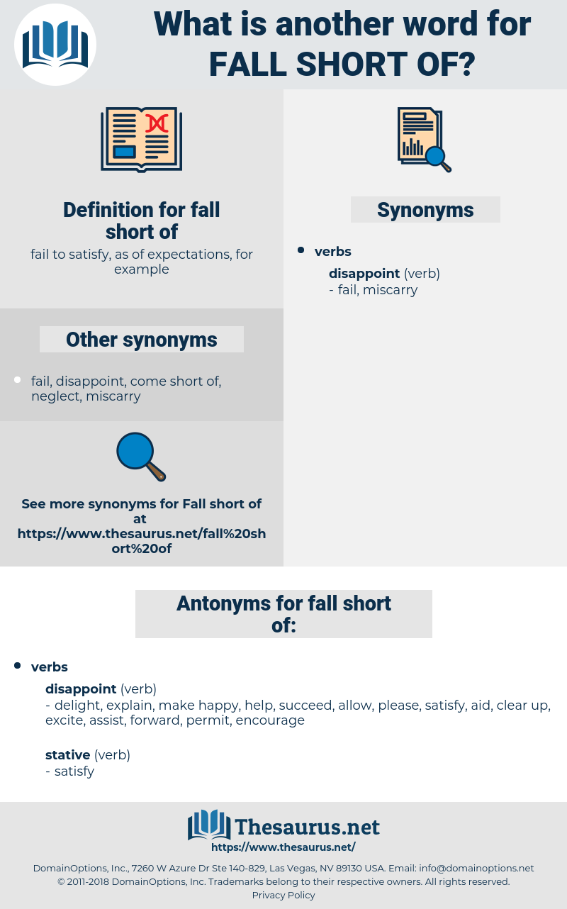 fall short of, synonym fall short of, another word for fall short of, words like fall short of, thesaurus fall short of