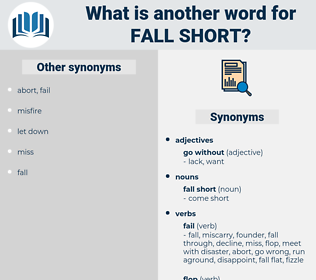 fall short, synonym fall short, another word for fall short, words like fall short, thesaurus fall short