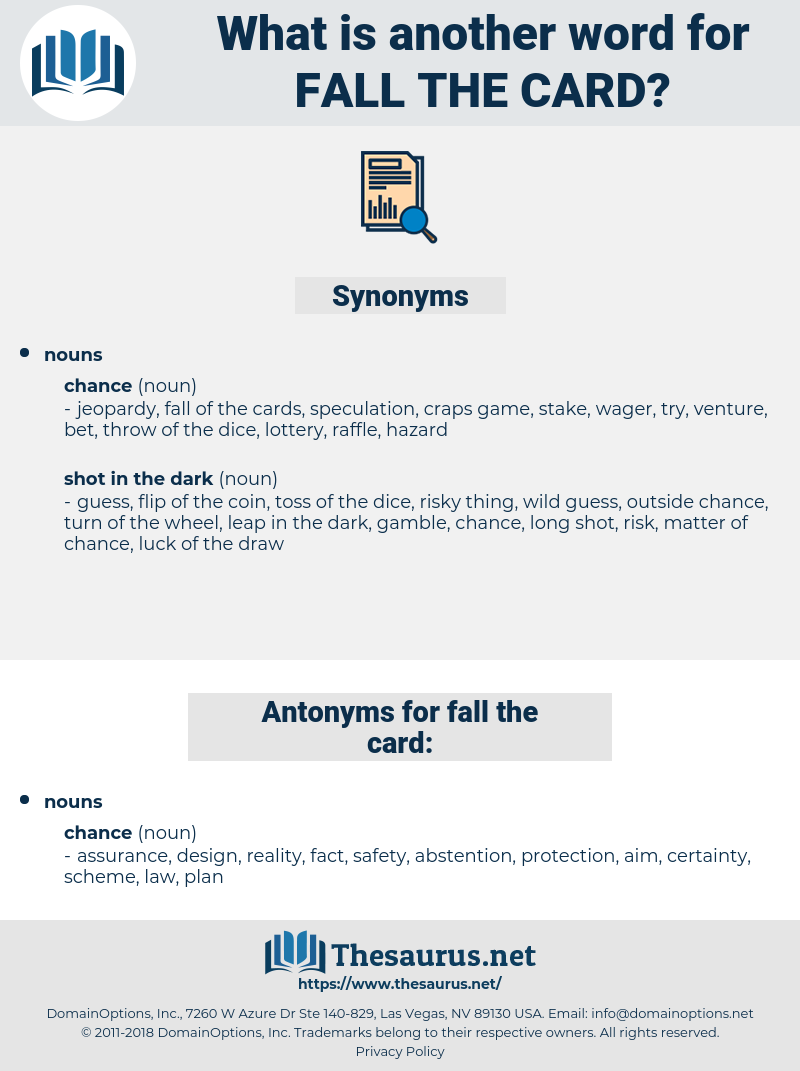 fall the card, synonym fall the card, another word for fall the card, words like fall the card, thesaurus fall the card