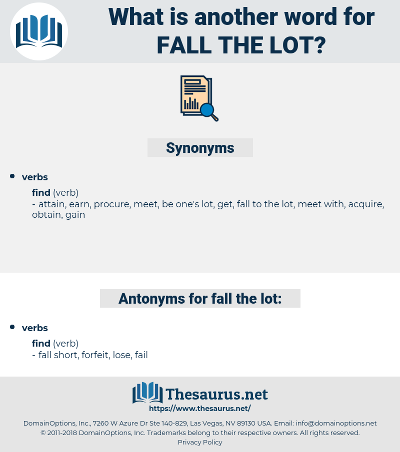 fall the lot, synonym fall the lot, another word for fall the lot, words like fall the lot, thesaurus fall the lot