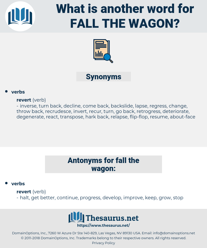 fall the wagon, synonym fall the wagon, another word for fall the wagon, words like fall the wagon, thesaurus fall the wagon