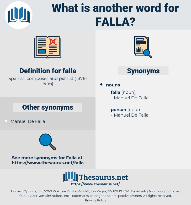 falla, synonym falla, another word for falla, words like falla, thesaurus falla