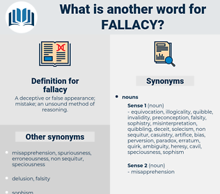 fallacy, synonym fallacy, another word for fallacy, words like fallacy, thesaurus fallacy