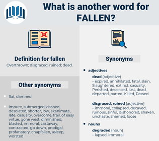 fallen, synonym fallen, another word for fallen, words like fallen, thesaurus fallen