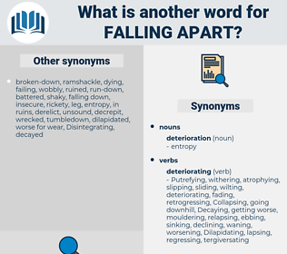 falling apart, synonym falling apart, another word for falling apart, words like falling apart, thesaurus falling apart