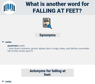 falling at feet, synonym falling at feet, another word for falling at feet, words like falling at feet, thesaurus falling at feet
