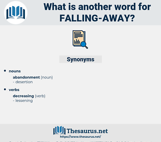 falling away, synonym falling away, another word for falling away, words like falling away, thesaurus falling away