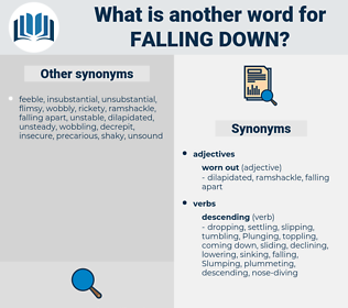 falling down, synonym falling down, another word for falling down, words like falling down, thesaurus falling down