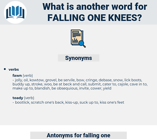 falling one knees, synonym falling one knees, another word for falling one knees, words like falling one knees, thesaurus falling one knees