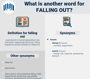 falling out, synonym falling out, another word for falling out, words like falling out, thesaurus falling out