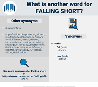 falling short, synonym falling short, another word for falling short, words like falling short, thesaurus falling short