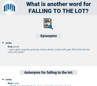 falling to the lot, synonym falling to the lot, another word for falling to the lot, words like falling to the lot, thesaurus falling to the lot