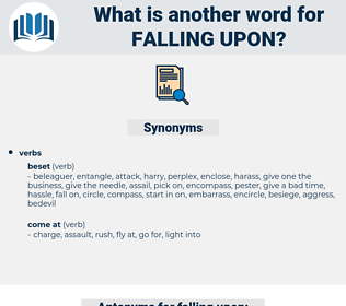 falling upon, synonym falling upon, another word for falling upon, words like falling upon, thesaurus falling upon