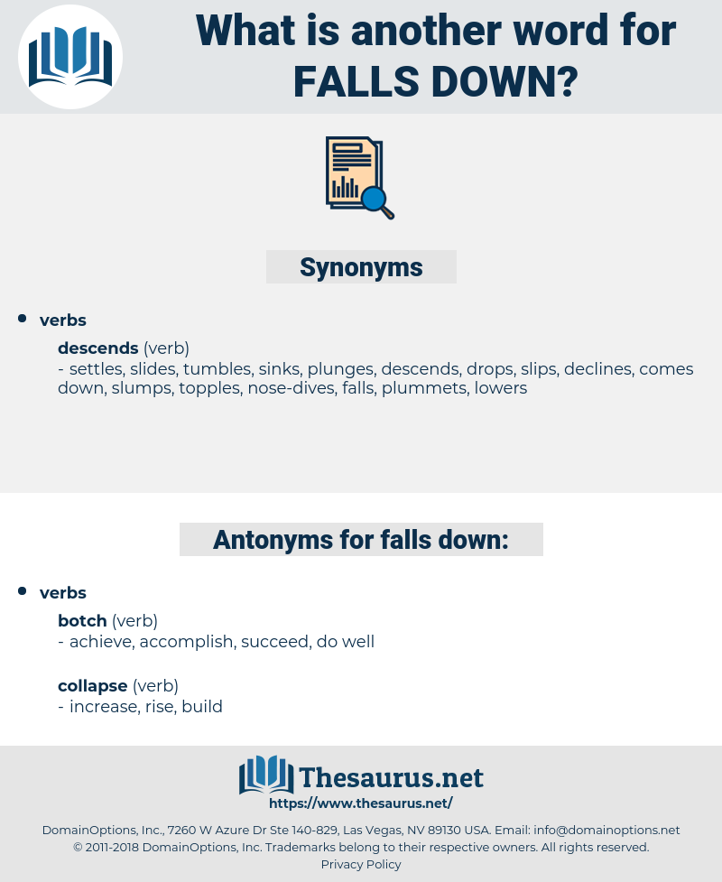 falls down, synonym falls down, another word for falls down, words like falls down, thesaurus falls down